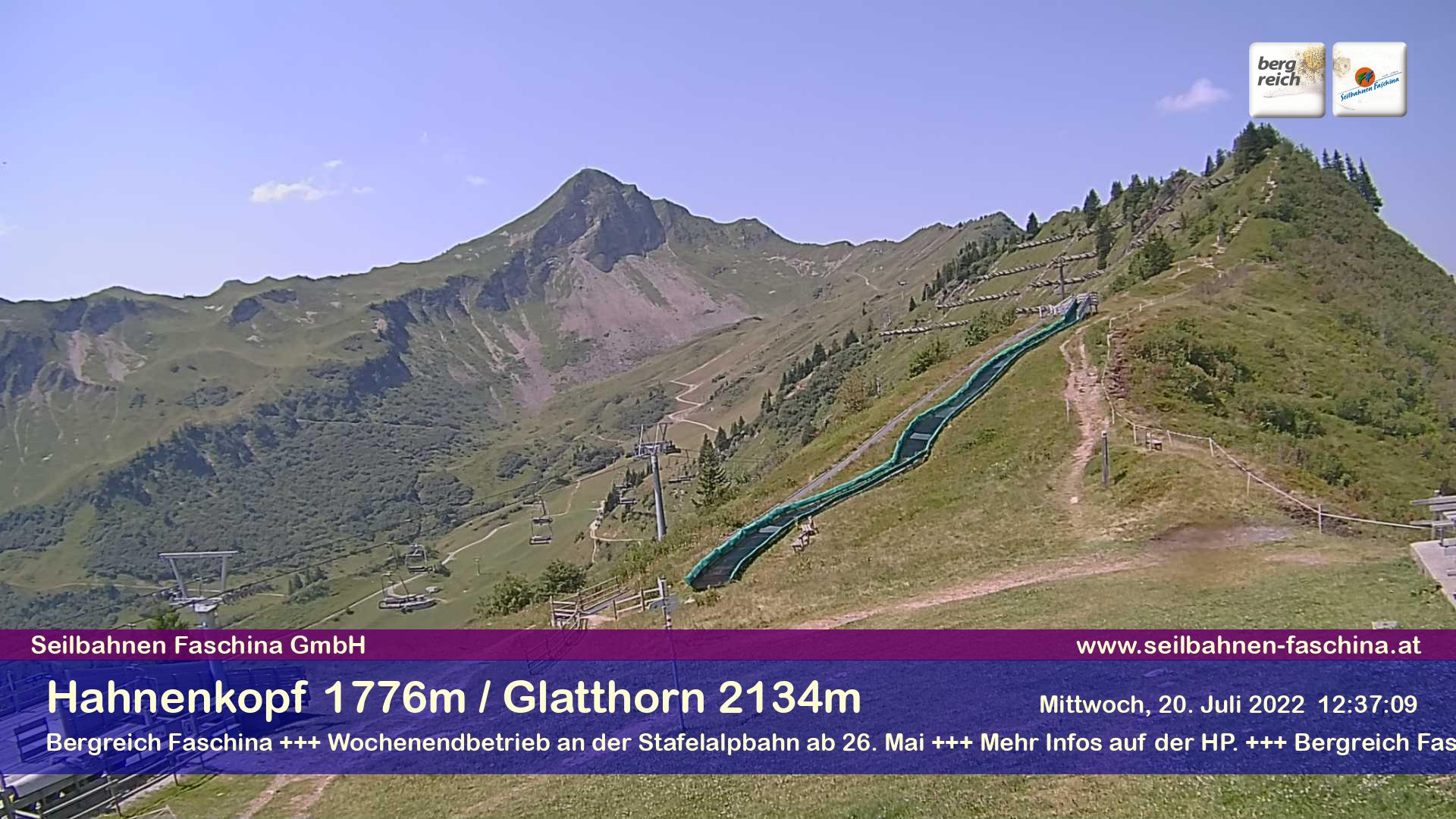 Faschina, am Hahnenkopf 1.776 m - Blick Richtung Glatthorn